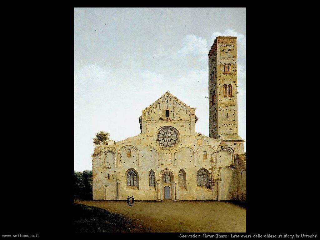 Saenredam Pieter Jansz Facciata della Chiesa di Santa Maria - Utrect