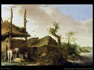 Saftleven Cornelis  Una cascina vicina al ruscello