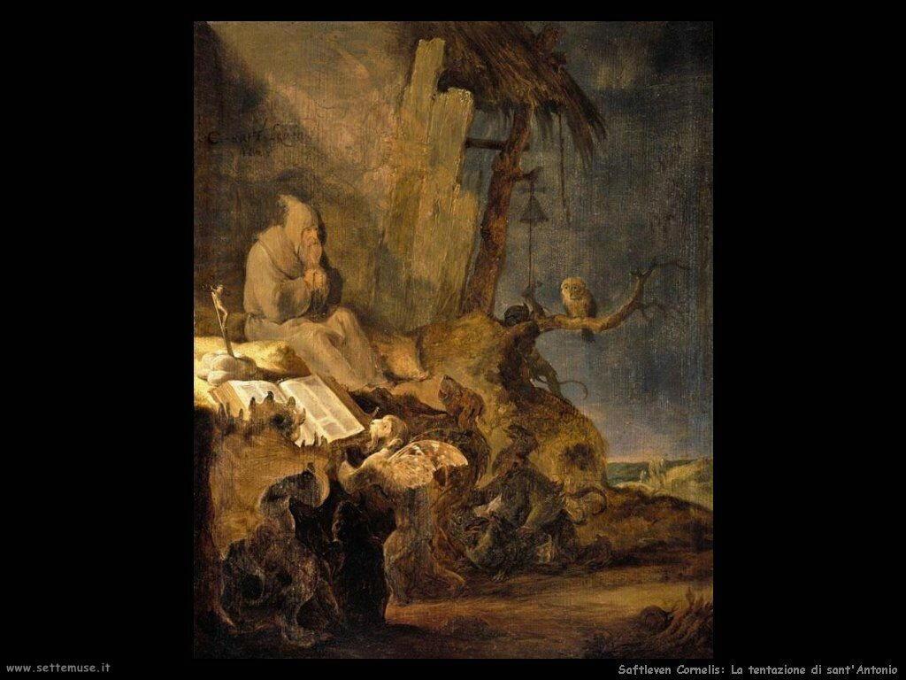 Saftleven Cornelis  La tentazione di Sant'Antonio
