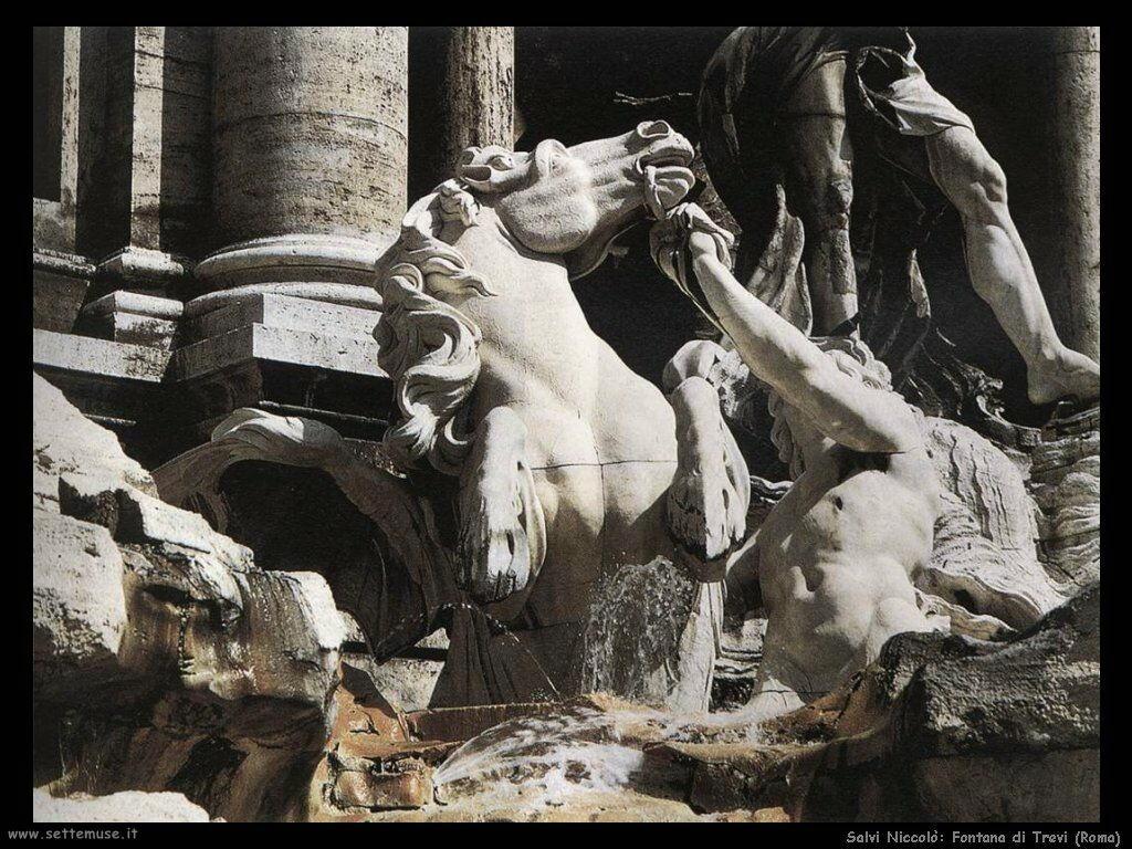 Salvi Niccolò Particolare Fontana di Trevi