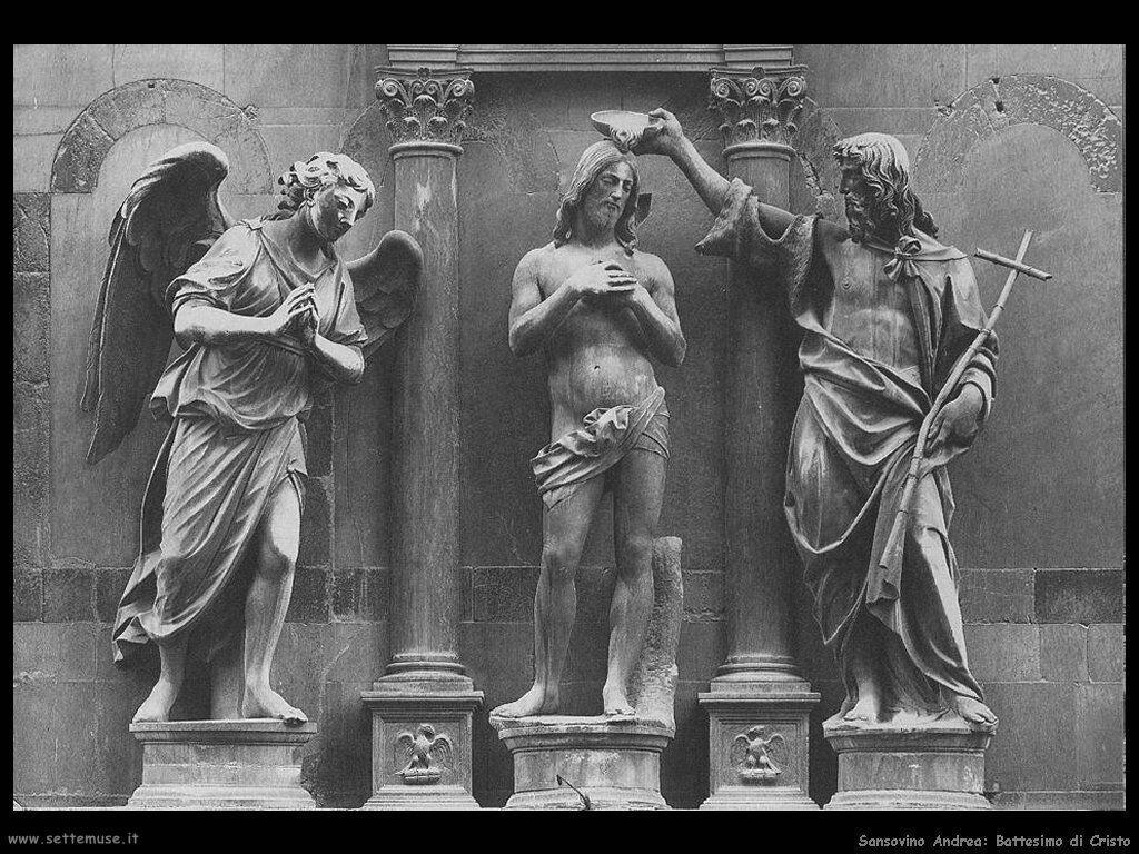 Sansovino Andrea Battesimo di Cristo