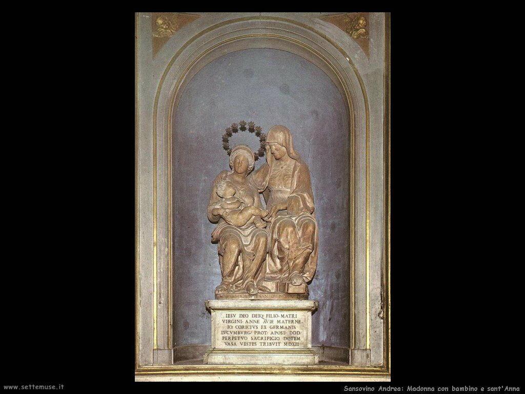 Sansovino Andrea Madonna e Figlio con Sant'Anna