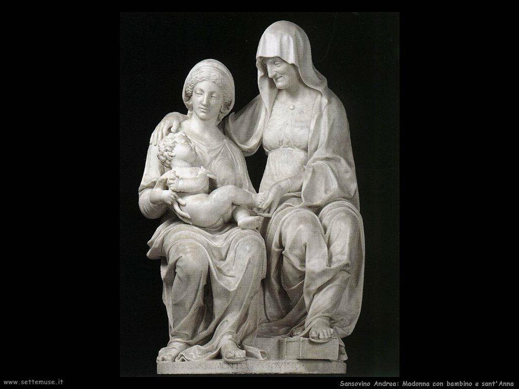 Sansovino Andrea Madonna con Figlio e sant'Anna
