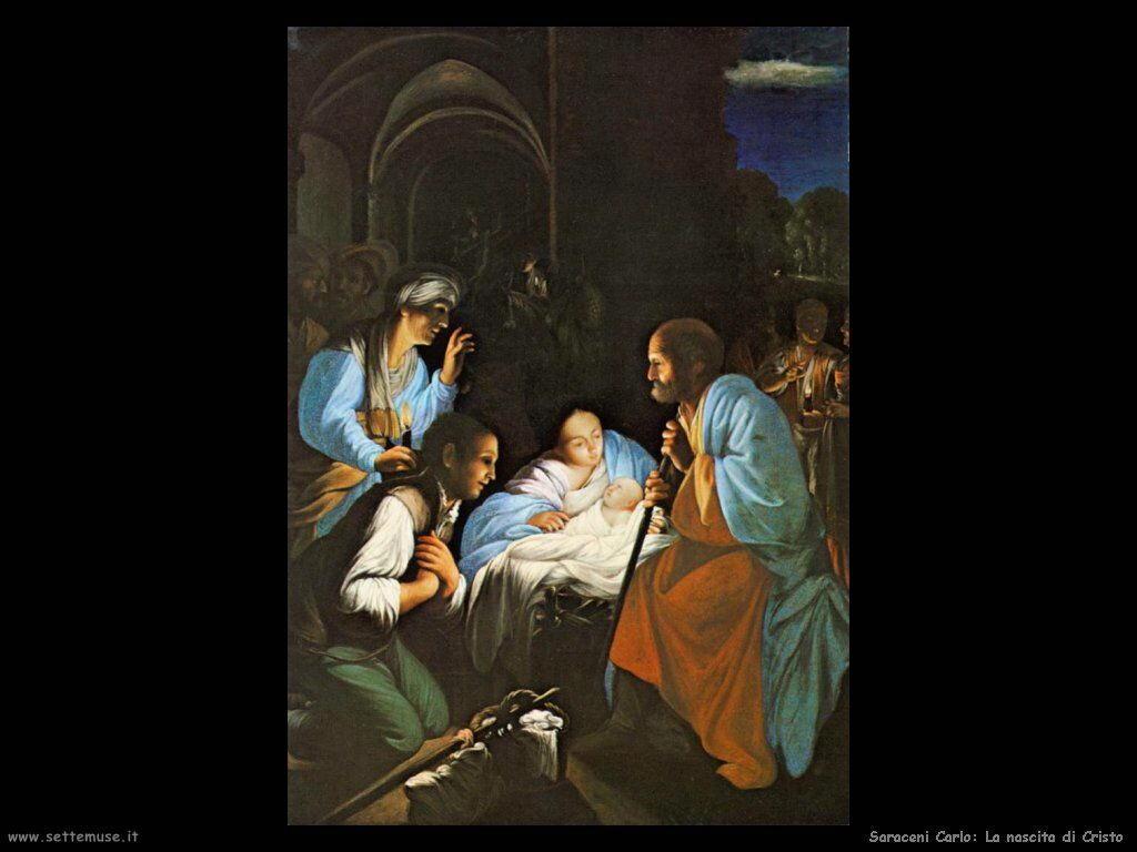 Saraceni Carlo La nascita di Cristo
