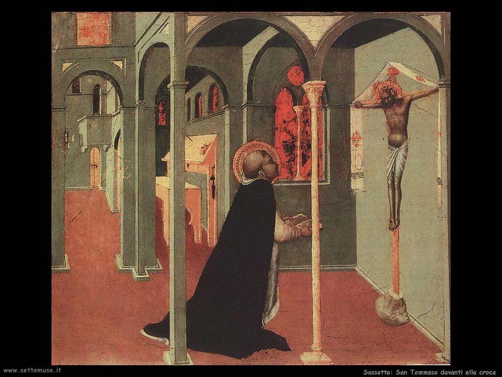 Sassetta San Tomaso davanti alla croce