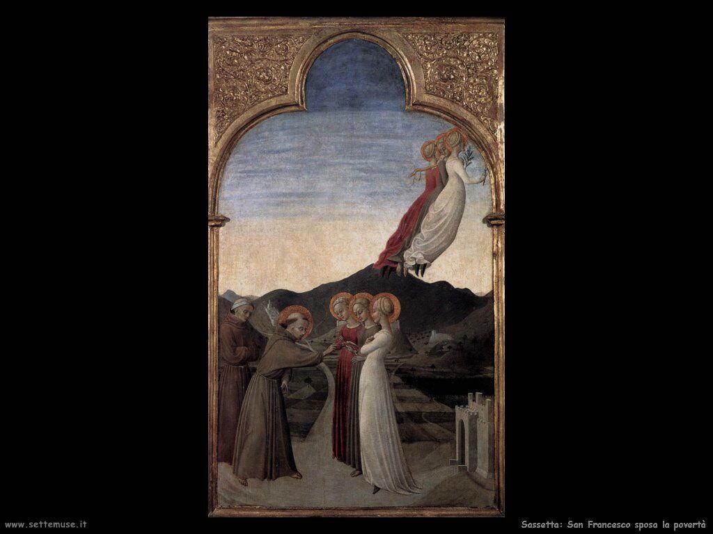 Sassetta Matrimonio di San Francesco con Signora Povertà