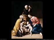 Sassoferrato La sacra famiglia con San Giovanni bambino
