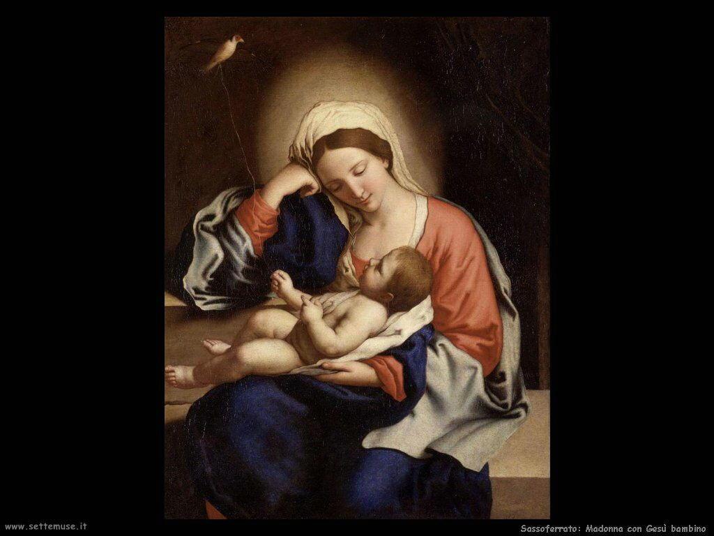 Sassoferrato Madonna con Cristo bambino