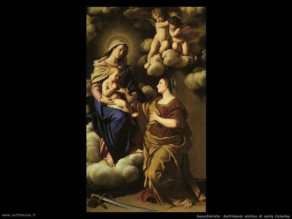 Sassoferrato Matrimonio mistico di Santa Caterina