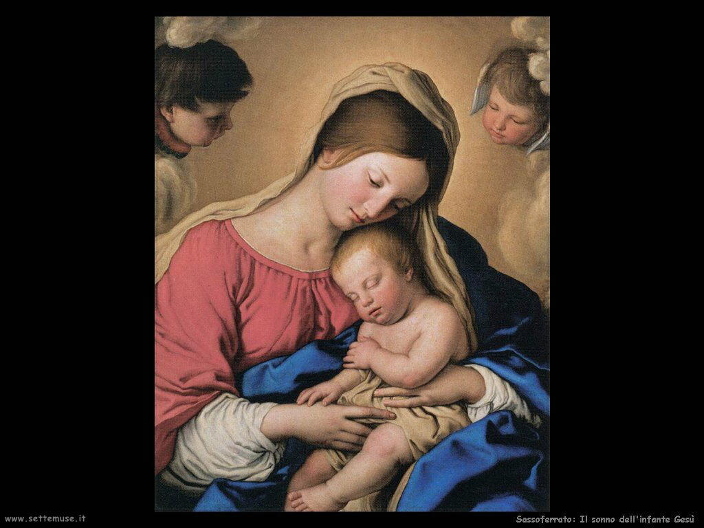 Sassoferrato Il sonno di Gesù bambino