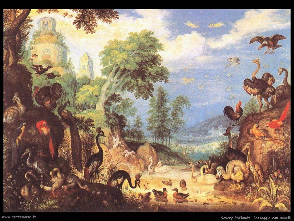 Savery Roelandt Paesaggio con uccelli