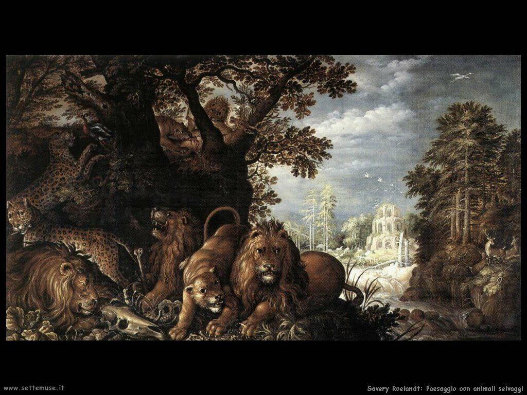 Savery Roelandt Paesaggio con bestie feroci