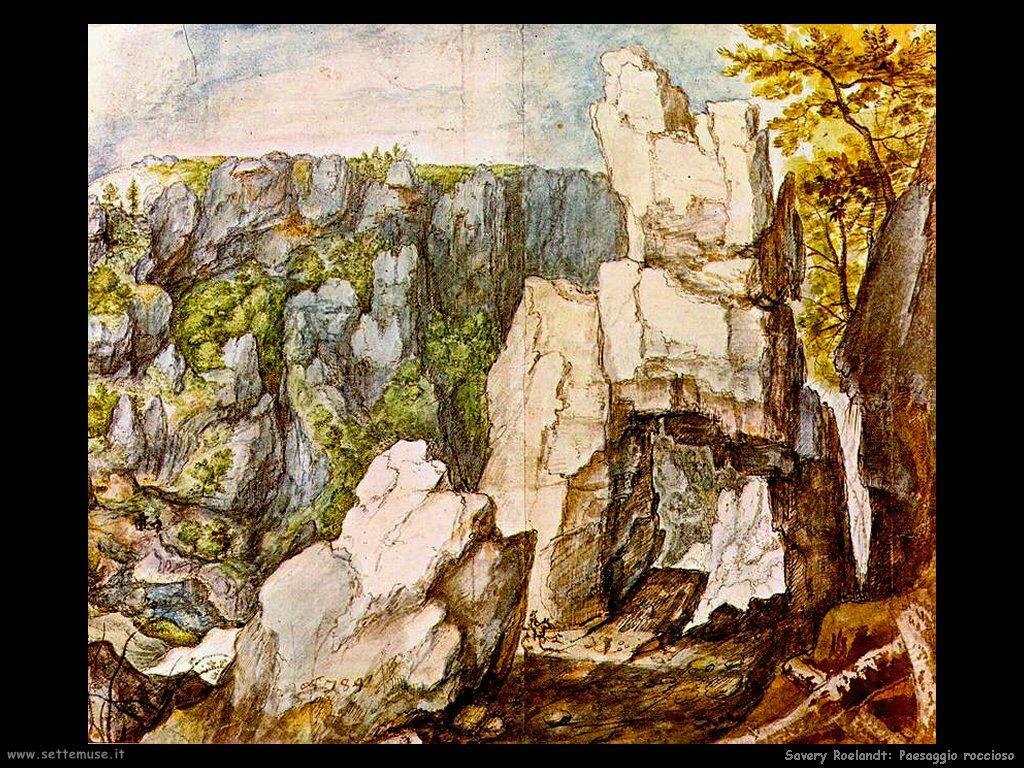 Savery Roelandt Paesaggio roccioso