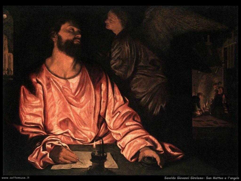Savoldo Giovanni Girolamo San Matteo e l'Angelo