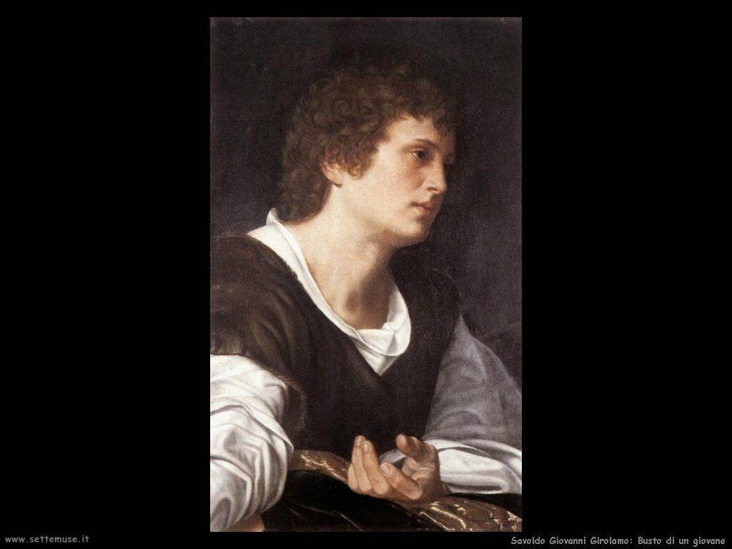 Savoldo Giovanni Girolamo Busto di giovane