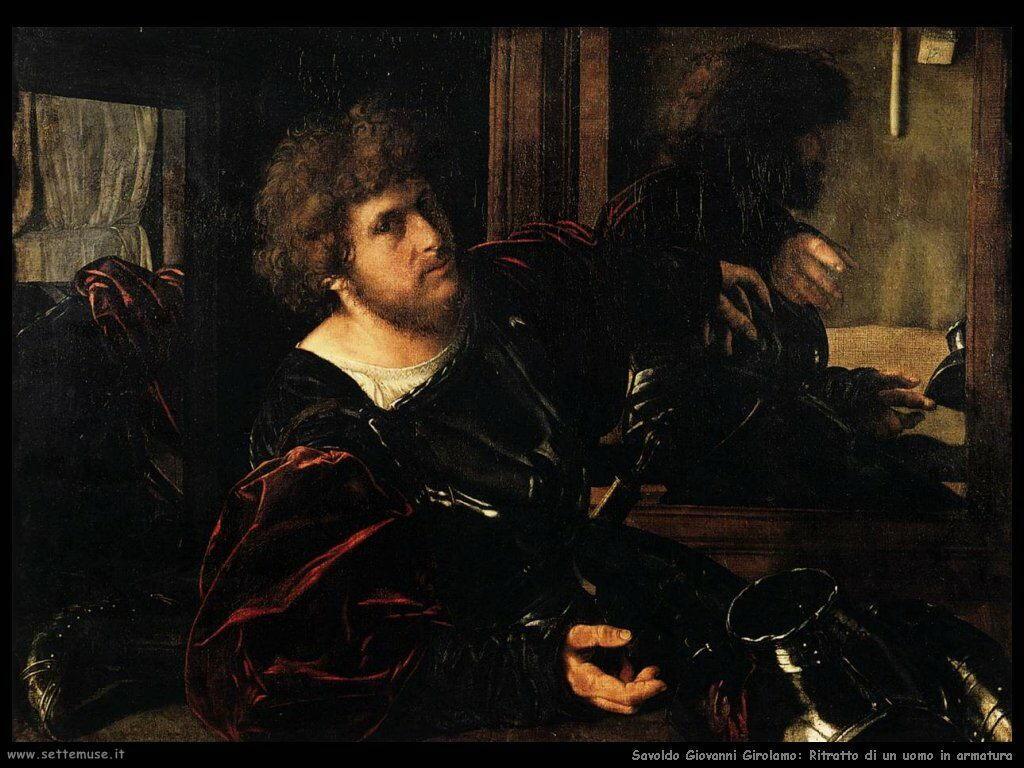 Savoldo Giovanni Girolamo Ritratto di uomo in armatura