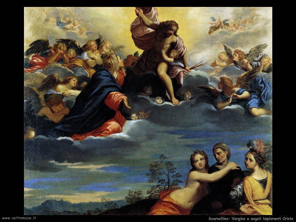 Scarsellino Vergine e Angeli pregano Cristo
