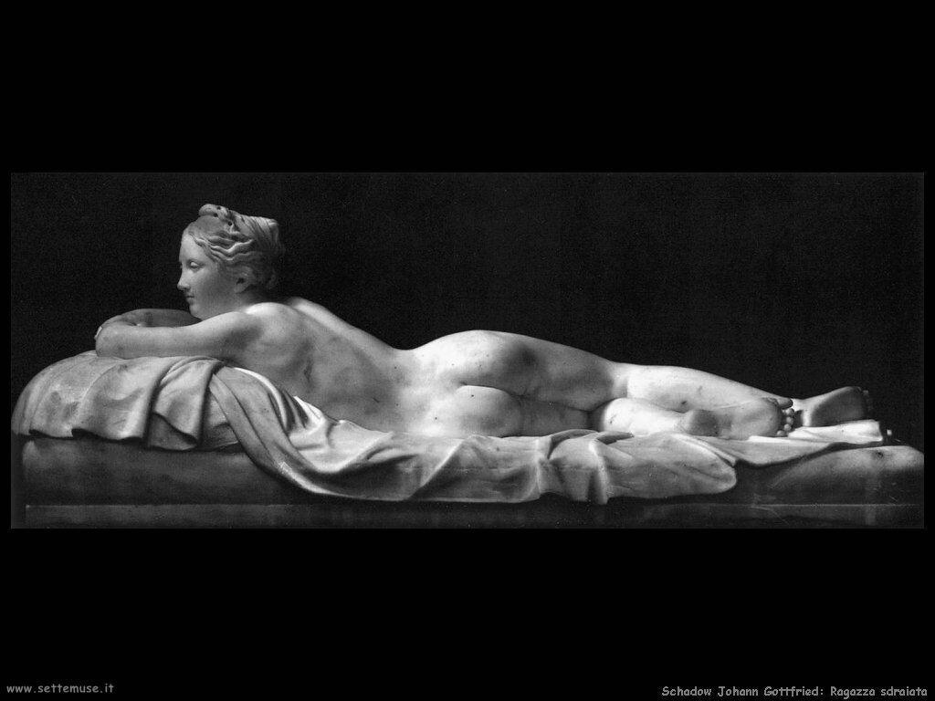 Schadow Johann Gottfried Ragazza distesa