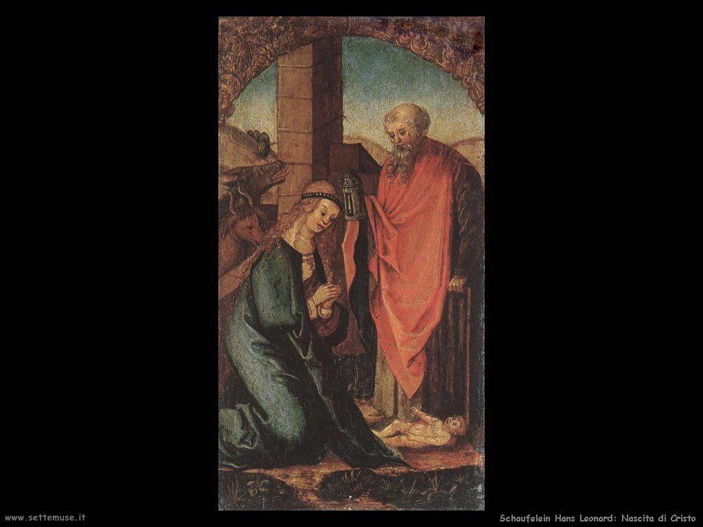 Schaufelein Hans Leonard La nascita di Cristo