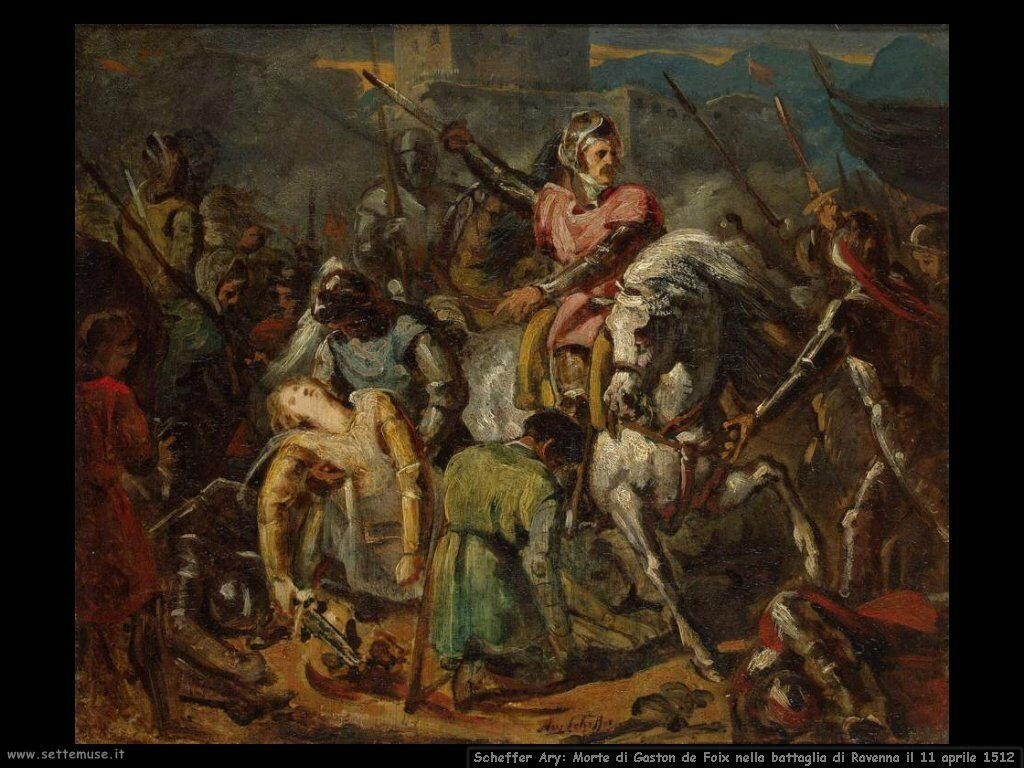 Scheffer Ary Morte di Gastone di Foix alla battaglia di Ravenna