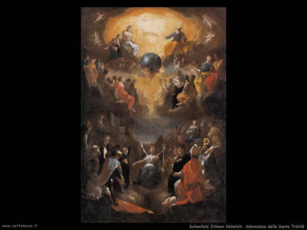 Schenfeld Johann Heinrich Adorazione della Santa Trinità