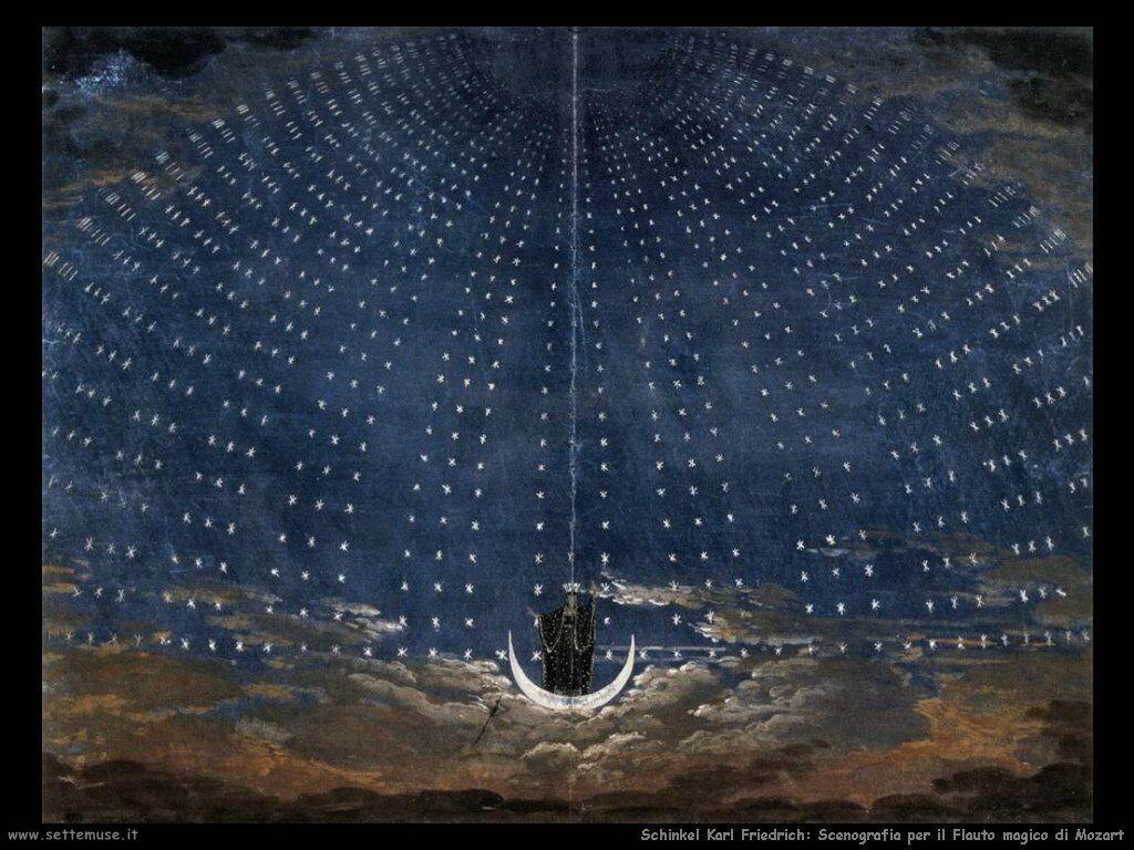 Schinkel Karl Friedrich Scenografia per il Flauto Magico di Mozart