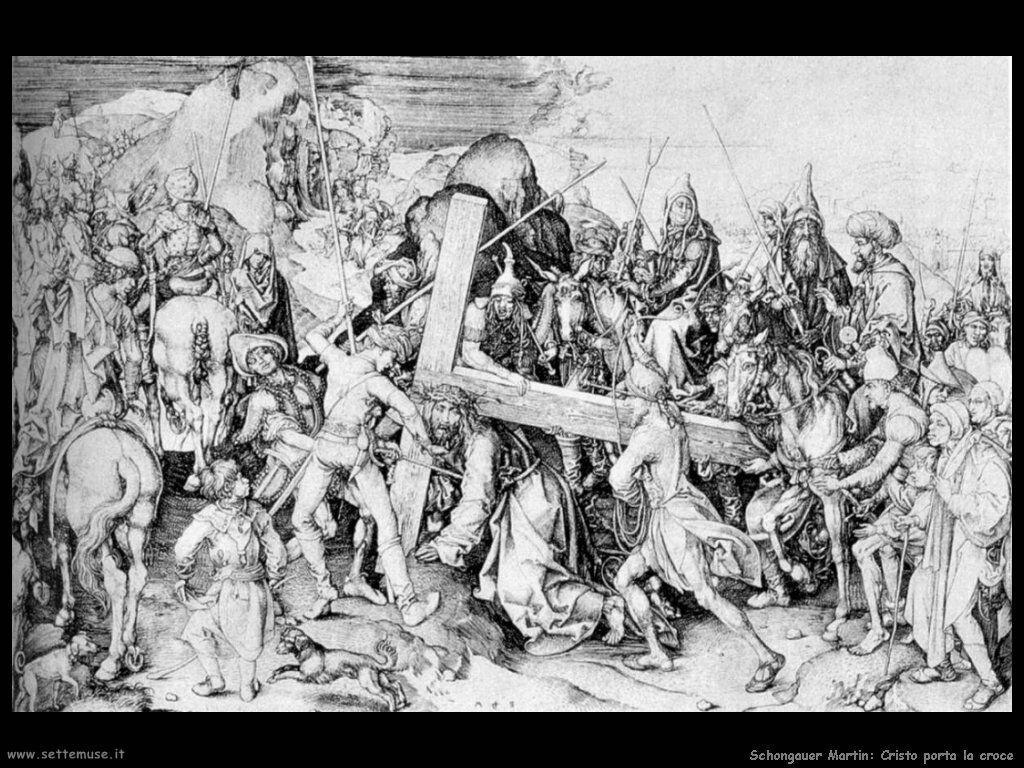 Schongauer Martin Cristo che porta la croce
