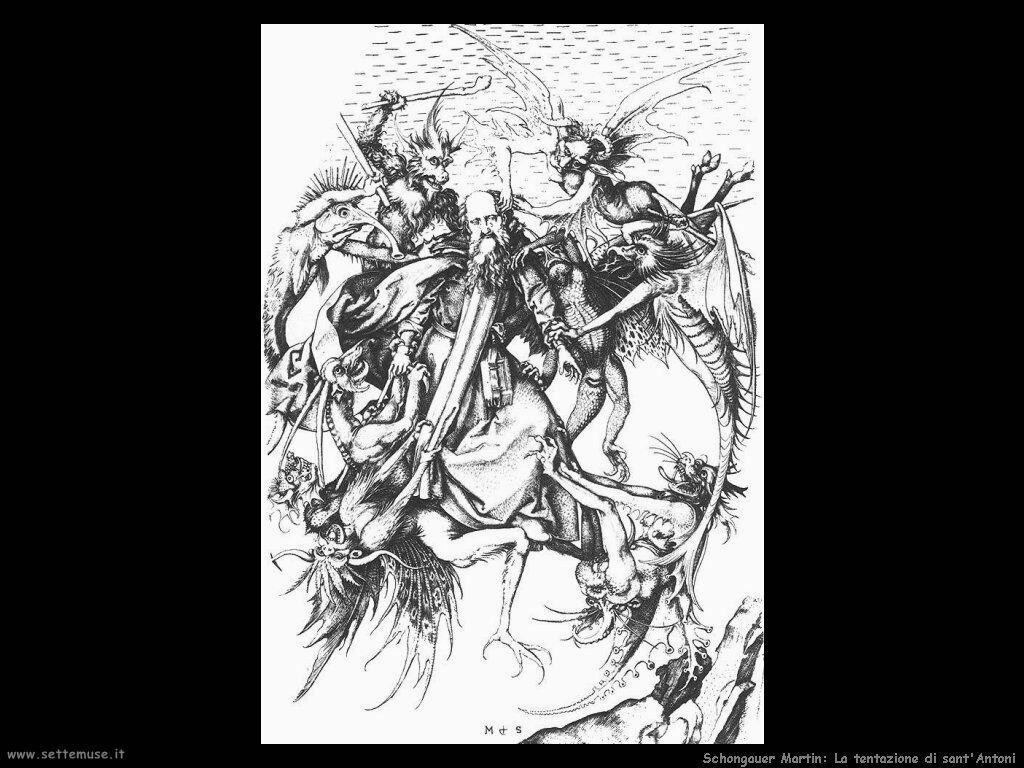 Schongauer Martin La tentazione di Sant'Antonio