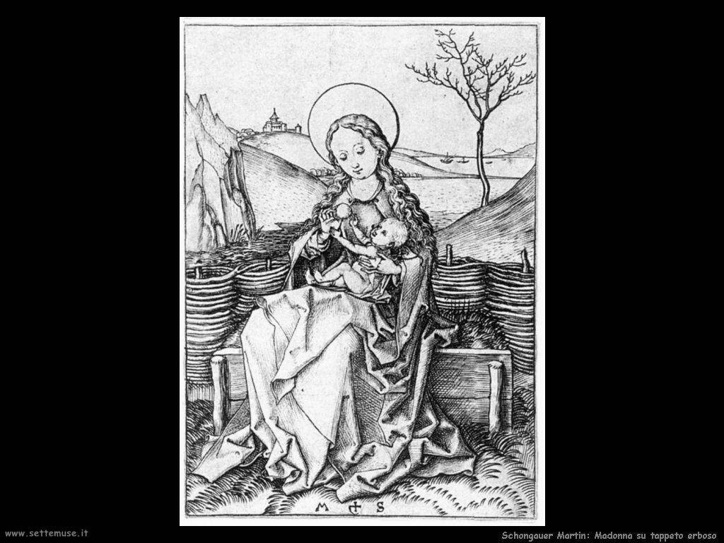 Schongauer Martin Madonna sulla panca d'erba