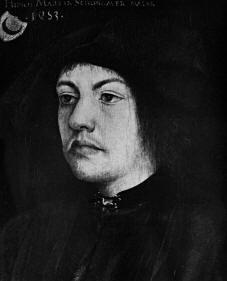 Autoritratto di Martin Schongauer