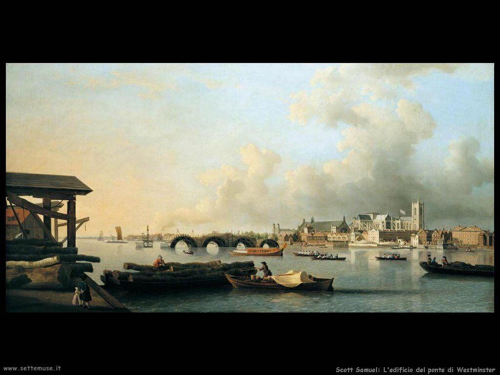 Scott Samuel La costruzione del ponte di Westminster