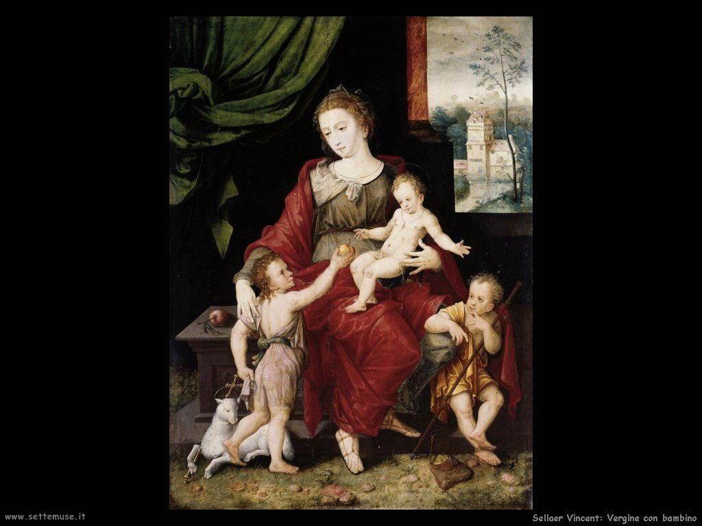 Sellaer Vincent La Vergine ed il figlio