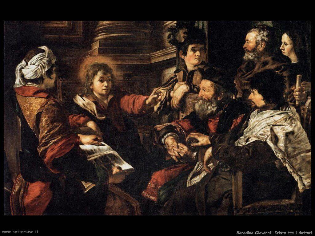 Serodine Giovanni Cristo fra i dottori