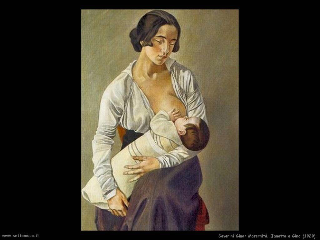 Severini Gino Maternità, Janette e Gina (1920)