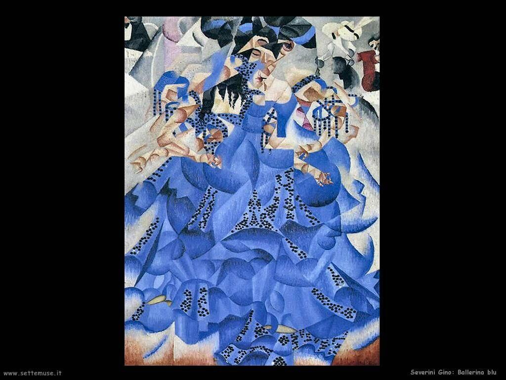 Severini Gino Ballerina blu