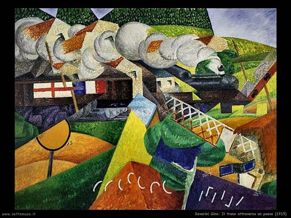 Severini Gino Il treno attraversa un paese (1915)