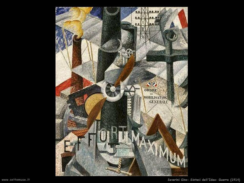 Severini Gino Sintesi dell'Idea: Guerra (1914)