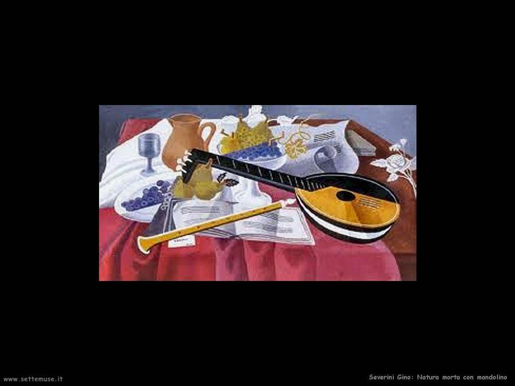 Severini Gino Natura morta con mandolino
