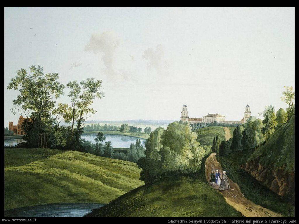 Shchedrin Semyon Fyodorovich Paesaggio con una fattoria nel parco Tsarskoye Selo