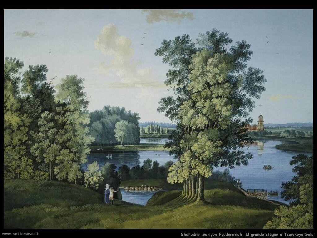 Shchedrin Semyon Fyodorovich Vista sul grande stagno nel parco di Tsarskoye Selo