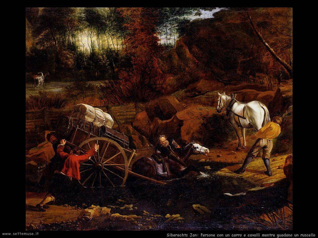 Siberechts Jan Figure con carro e cavallo