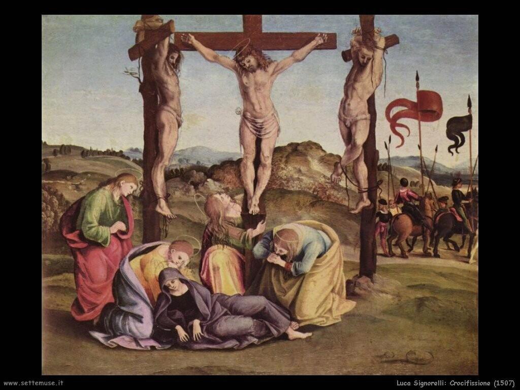 Signorelli Luca crocifissione 1507