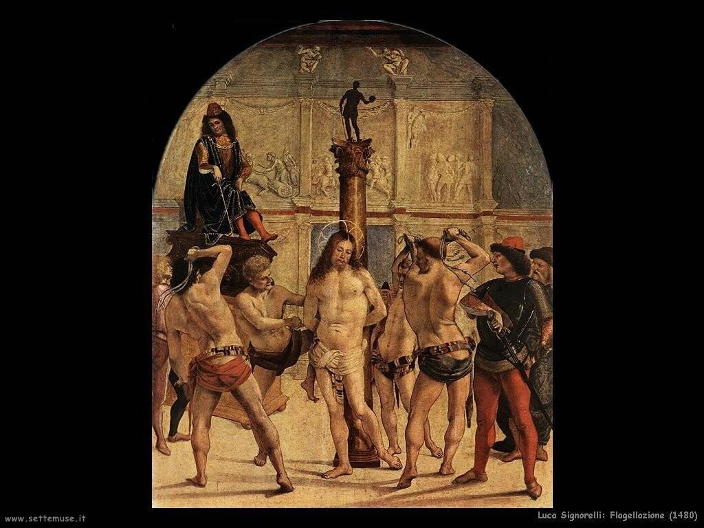 Signorelli Luca flagellazione 1480