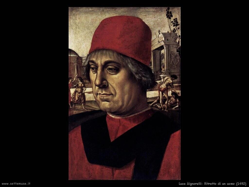 Signorelli Luca ritratto uomo 1492