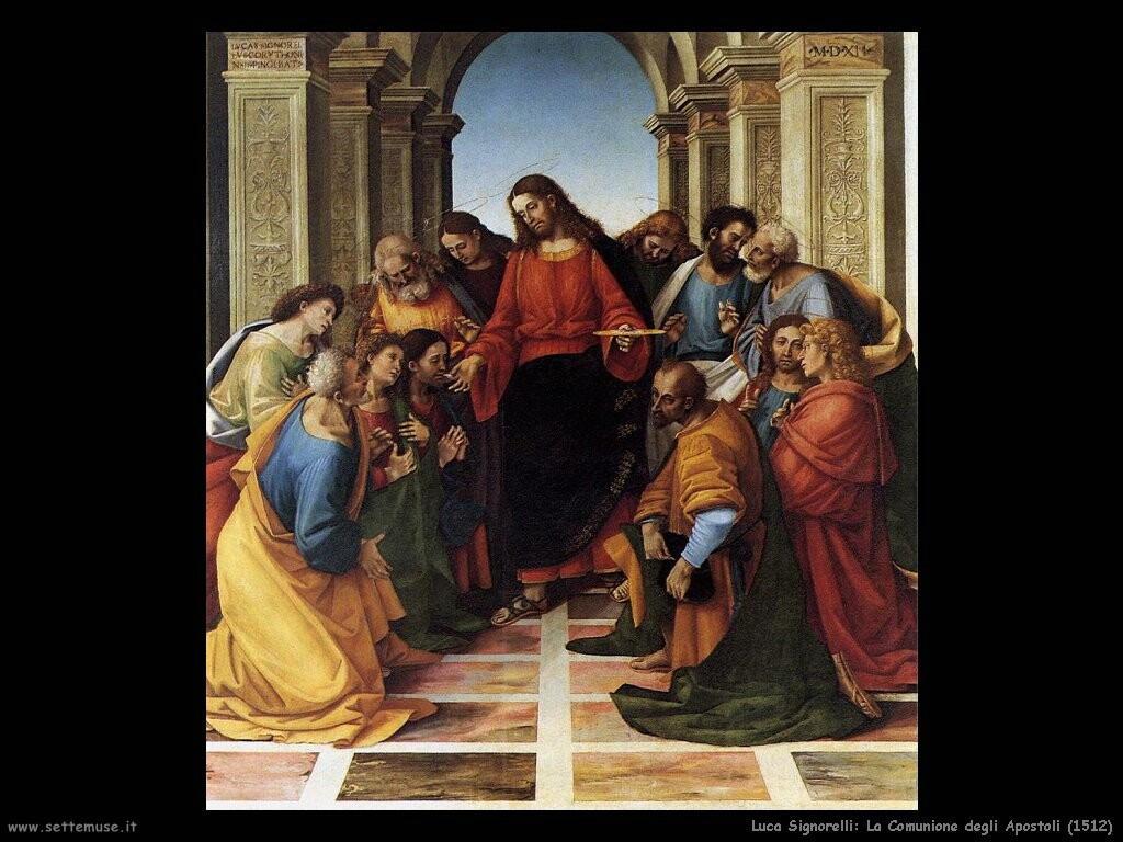 Signorelli Luca comunione apostoli 1512