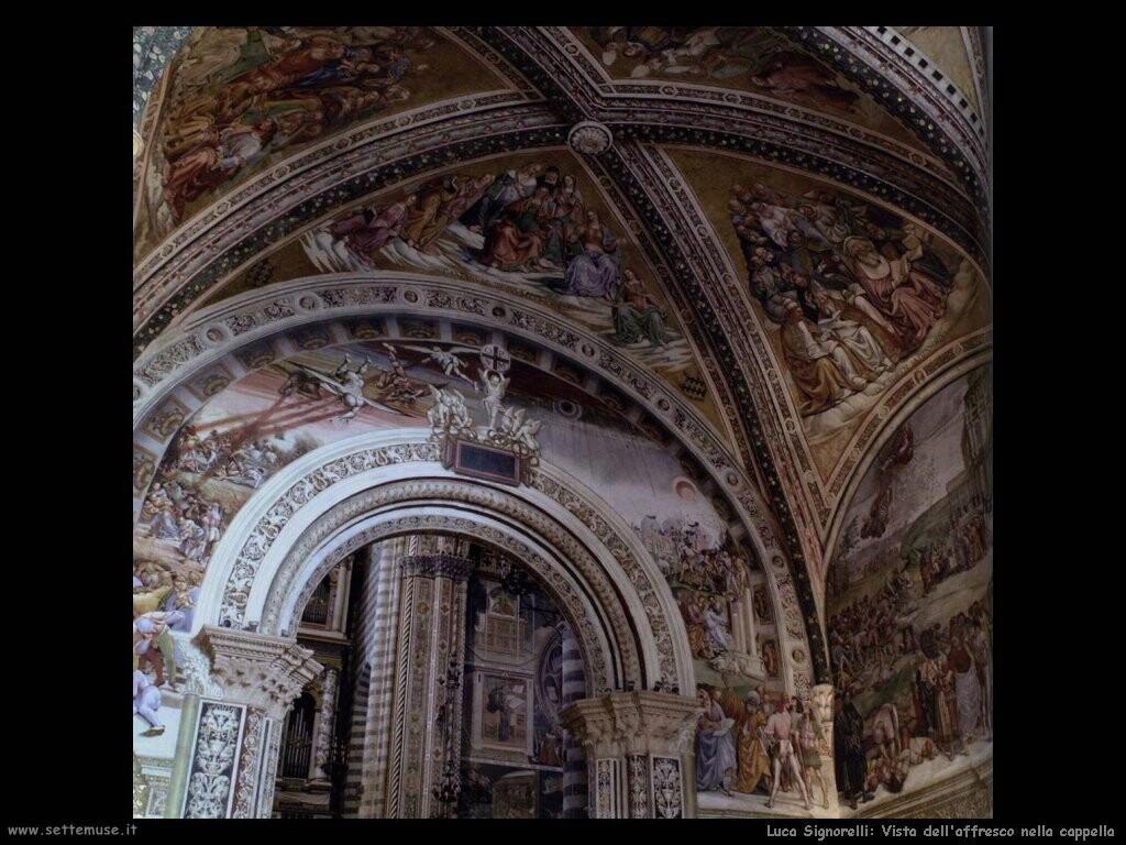 Signorelli Luca - vista dell'affresco nella cappella
