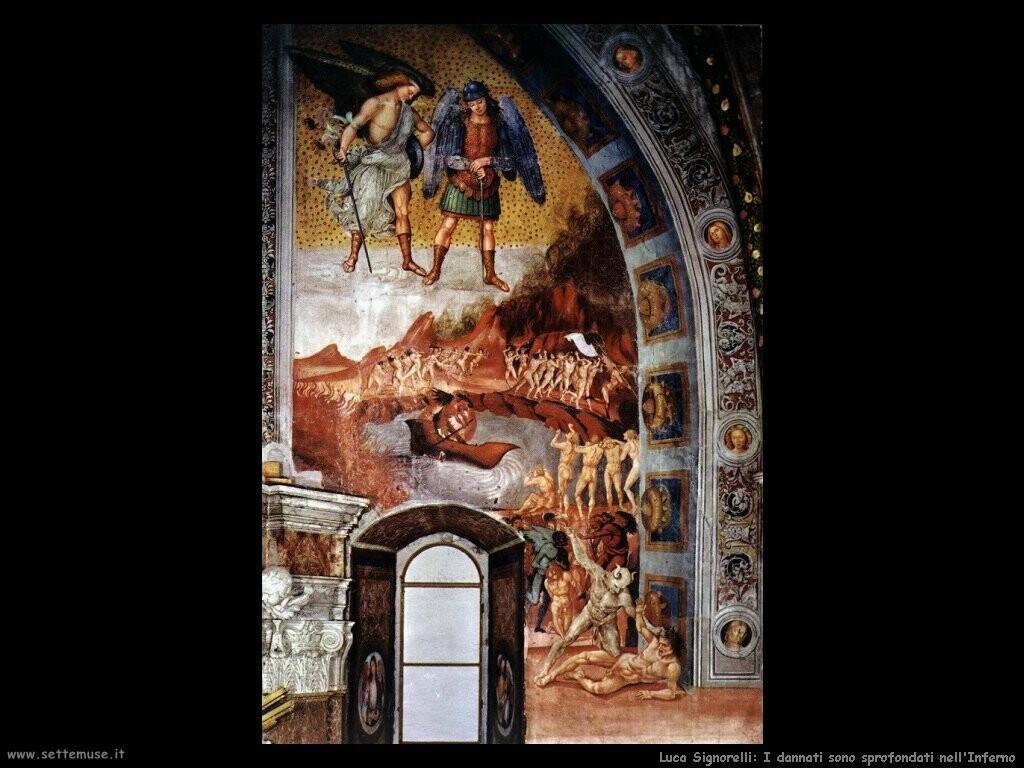 Signorelli Luca - i dannati gettati all'Inferno