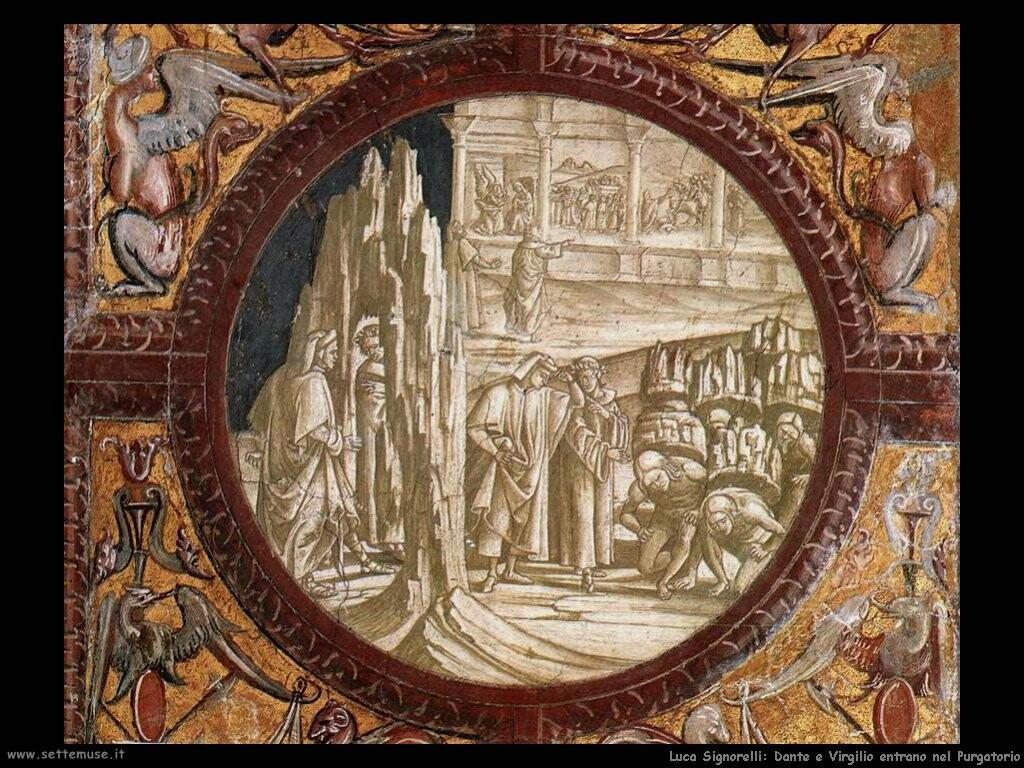 Signorelli Luca - Dante e Virgilio entrano in Purgatorio