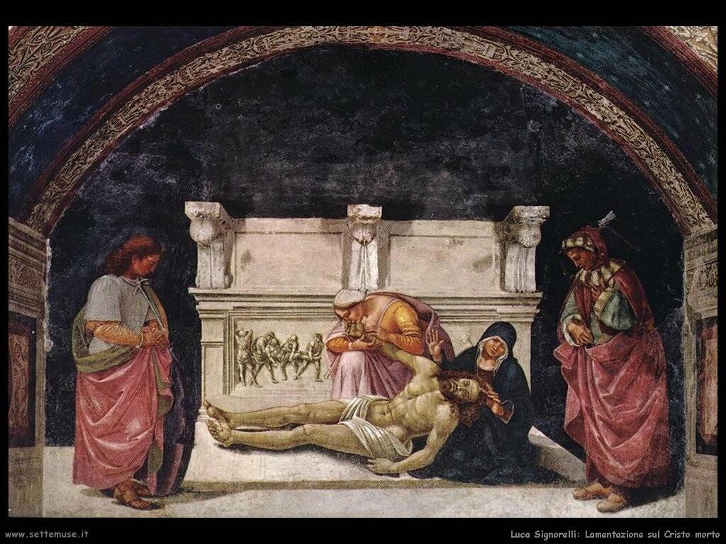 Signorelli Luca - lamento sul Cristo morto
