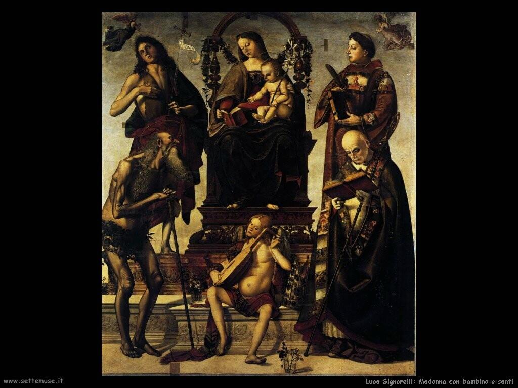 Signorelli Luca - Madonna e bambino con santi